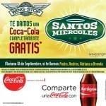 Hoy coca cola gratis en Wingstop si te llamas Pedro, Andrés, Adriana o Brenda