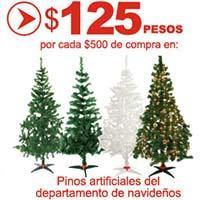 125 de bonificacin por cada 500 de compra en arboles de Navidad