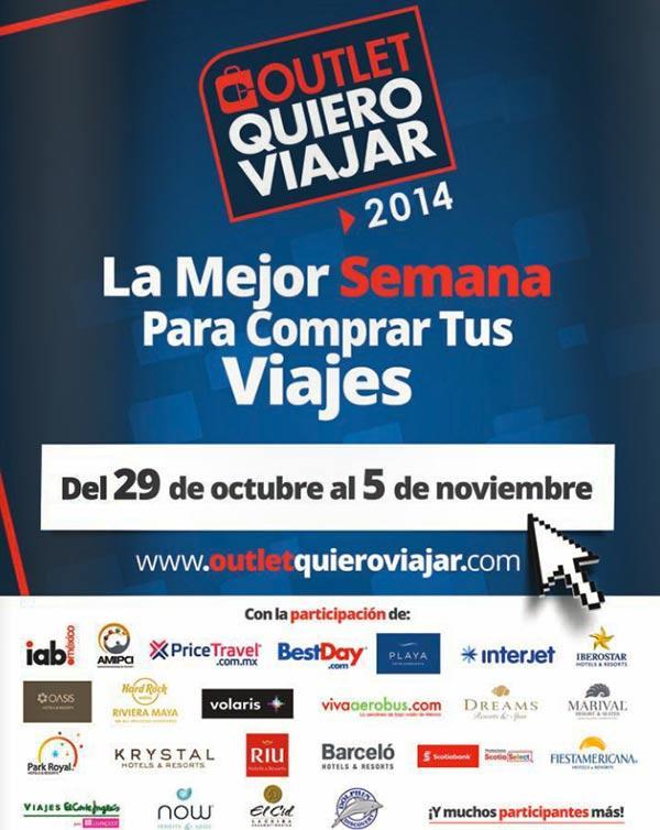f2c369c6061b Outlet Quiero Viajar 2014 del 29 de octubre al 5 de noviembre tiene ...