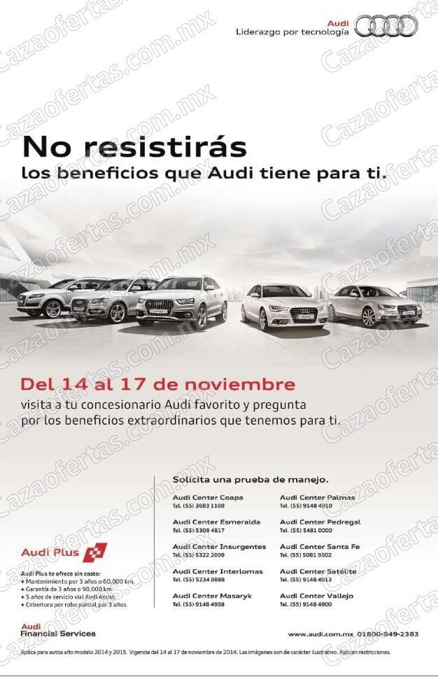 Ofertas En Audi El Buen Fin 2014 Descuentos En Autos Y Prueba De Manejo