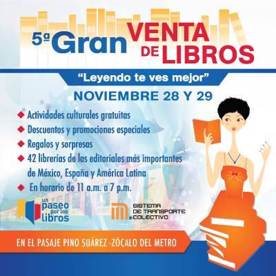 5ta Gran Venta de Libros en el pasaje Pino Suárez-Zócalo