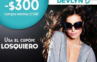 cd2ad90284 Cupón de $300 de descuento en lentes oftálmicos y solares en la tienda en  línea de Devlyn