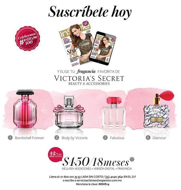 4938044fa8 Fragancia a elegir Victorias Secret + 18 meses de la revista InStyle por   450 (la pura fragancia vale más)