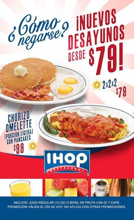 Nuevos desayunos en IHOP desde $79 pesos