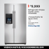 Refrigerador Frigidaire de 23 pies cúbicos a $9999 en City Club