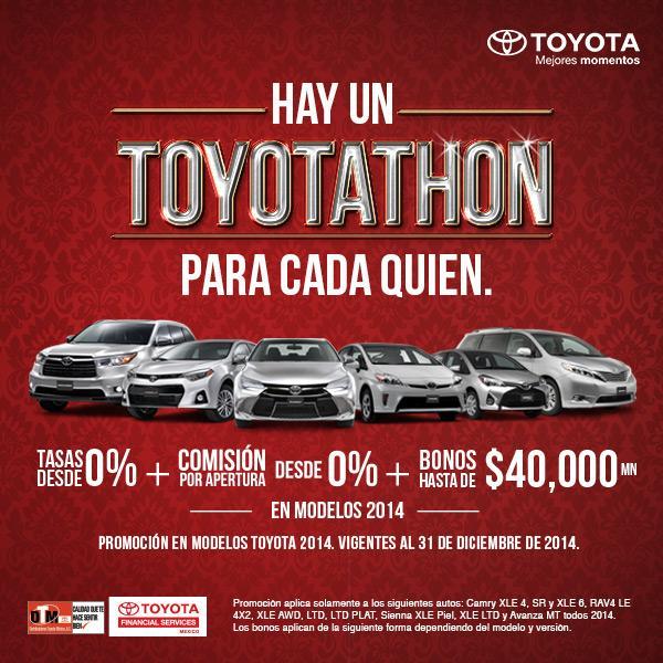 Promociones Toyotathon 2014 Tasas De 0 Comisi 243 N Por