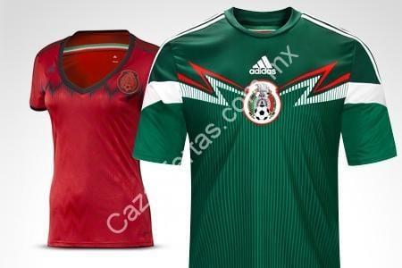 Jersey Adidas oficial de la selección mexicana de fútbol de local o  visitante a  499 en Groupon 92c3314091046