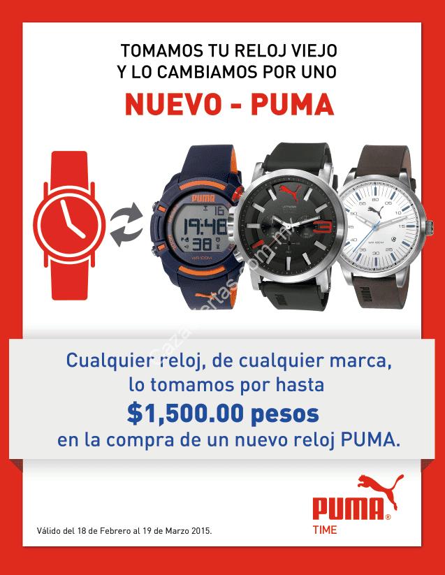 0f6db88ce Promoción relojes Puma: Cambia tu reloj viejo de cualquier marca por uno  nuevo Puma y obtén hasta $1500 pesos de descuento