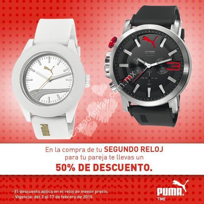 2487f8473 Promoción de San Valentín en tiendas Puma: Llévate un segundo reloj a mitad  de precio
