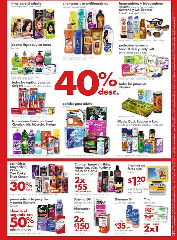 Folleto farmacias Benavides: 40% de descuento en varios