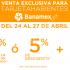 Venta exclusiva Banamex en Muebles Pergo con 35% de descuento ó 12 meses sin intereses