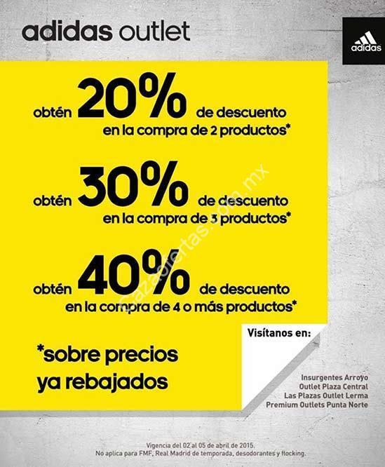 cráneo cortar a tajos estómago  En adidas Outlet hasta 40% de descuento en la compra de varios productos