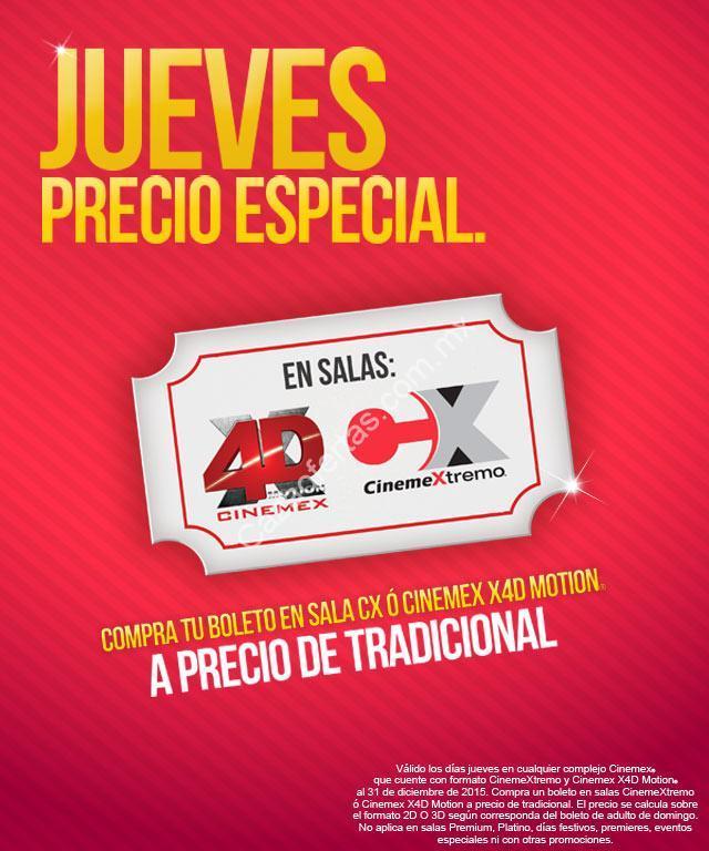 Promoci n jueves cinemex boletos para x4d y cx a precio for Cine capitol precio entrada