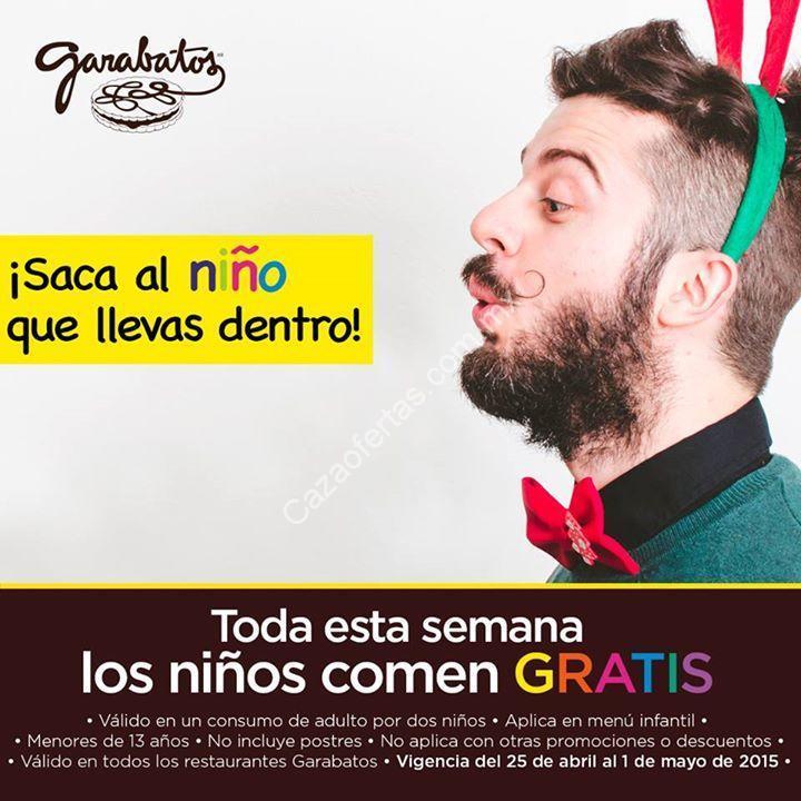 Promoción Día del Niño Garabatos: niños comen gratis del 25 de abril ...