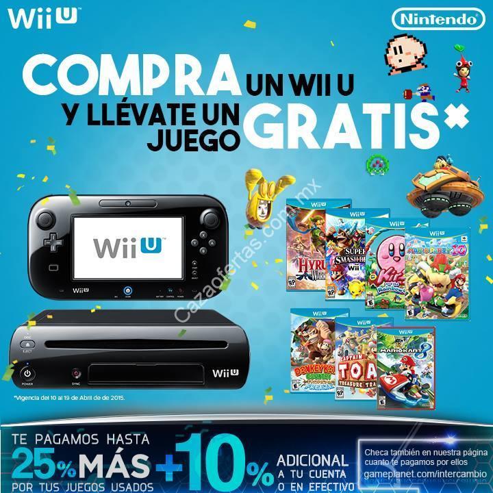 Compra Un Wii U Y Llevate Un Juego Gratis En Gameplanet Incluye