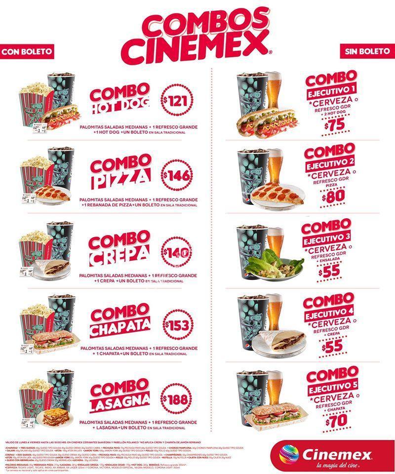 Nuevos combos cinemex 2015 con y sin boleto incluido desde 55 for Cuanto cuestan las albercas en walmart