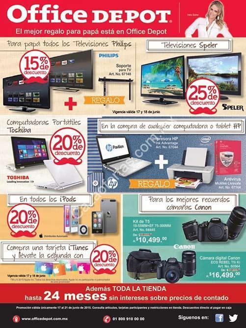 ofertas office depot 17 a 21 de junio descuentos en ipods laptops toshiba pantallas philips etc