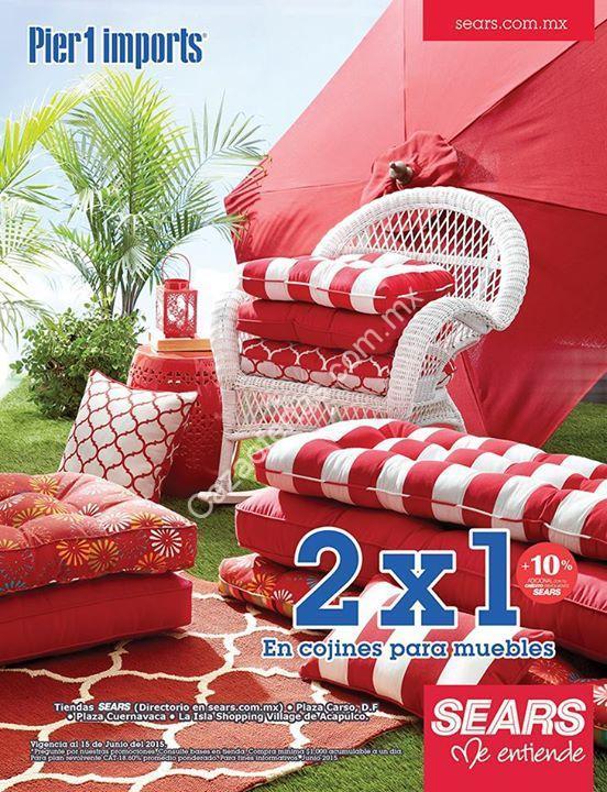 2×1 en todos los cojines para muebles en sears