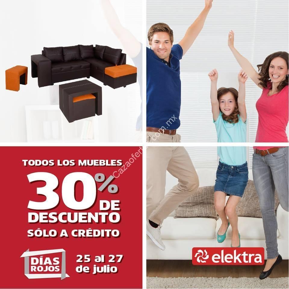 Promoci N D As Rojos Elektra Todos Los Muebles Con 30 De  # Muebles Elektra