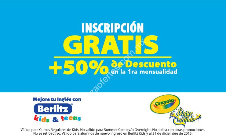 Promoción Crayola: Inscripción a Berlitz Kids gratis y 50% de ...