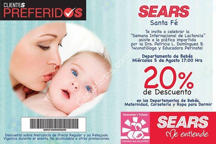 c736fef27 Promoción Sears Santa Fe  20% de descuento en el departamento de bebés por  la semana internacional de la lactancia