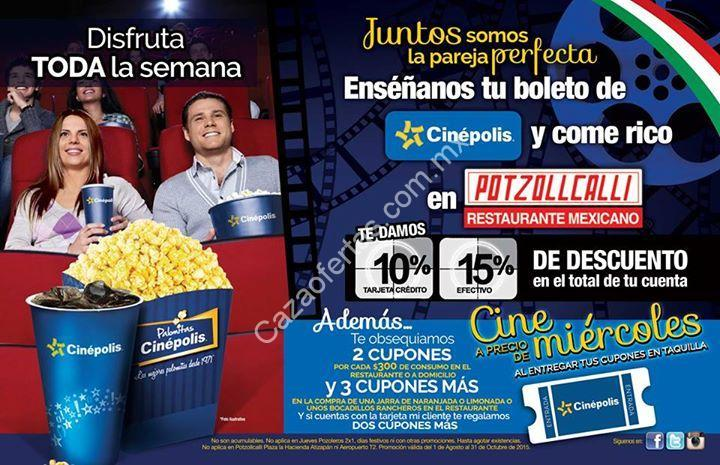 Promociones cinepolis y potzollcalli cupones para el cine for Cines arenys precios