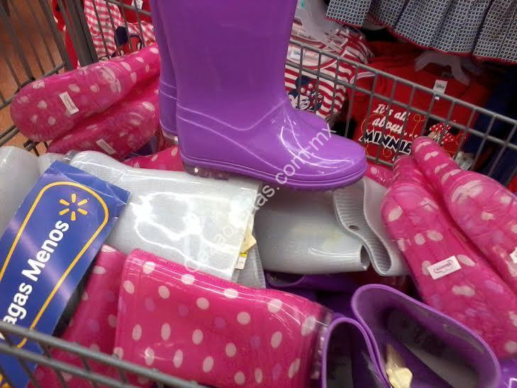 revisa 0884b bcf17 Botas de lluvia para niña a $60 en Walmart Universidad