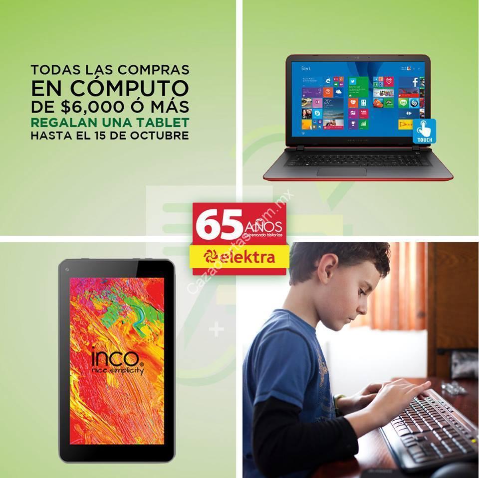 Promociones 65 Aniversario Elektra Tablet Gratis En Compras En  # Muebles Elektra
