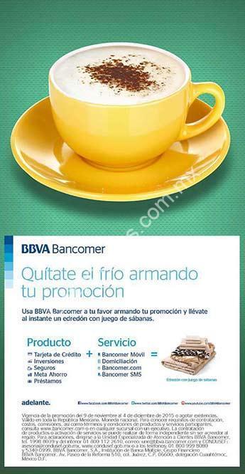 Promoción Bancomer edredón y sábanas GRATIS al contratar producto