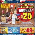 Ofertas HEB El Buen Fin 2015: $25 por cada $100 en vinos y licores y 12 pack de Bud Light a $89