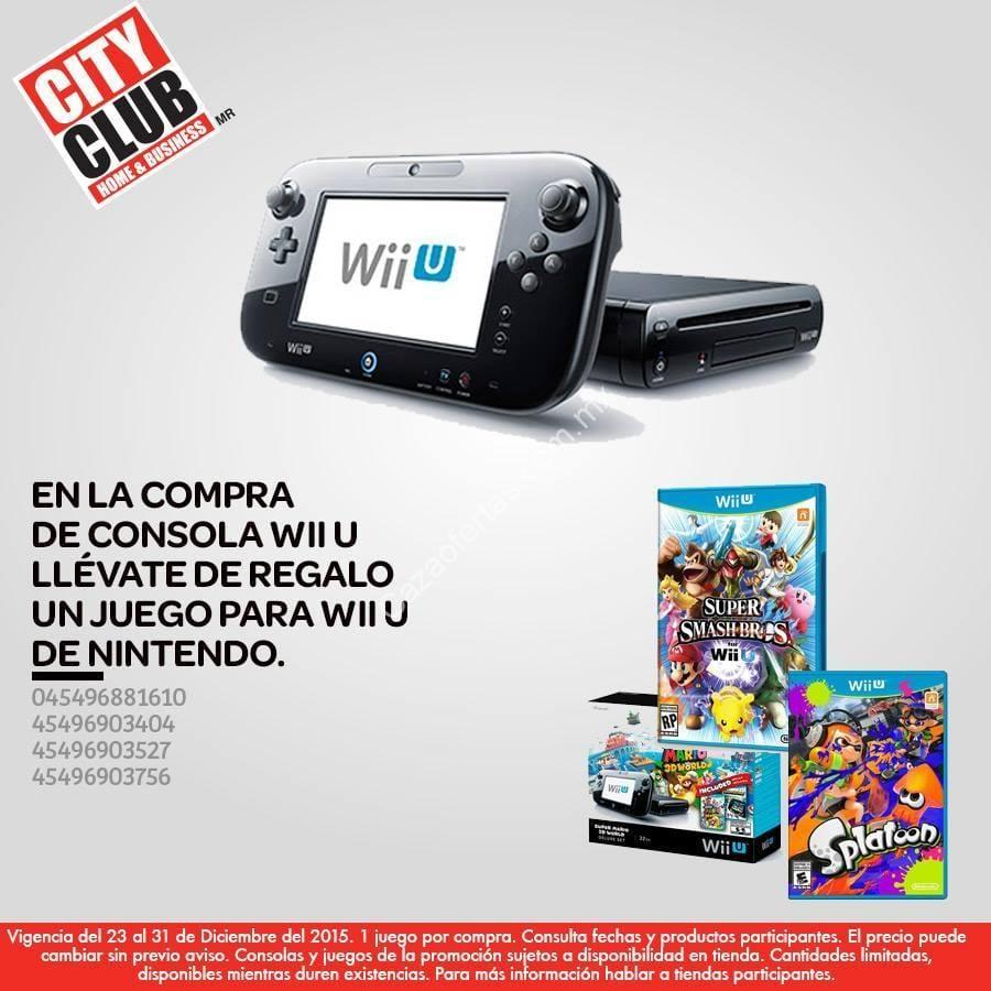 En City Club En La Compra De Un Wii U Llevate Gratis Un Juego Adicional