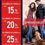 Ofertas de navidad Springfield: Hasta 25% de descuento dependiendo del monto de tu compra