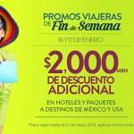 Promoción BestDay Interjet y Volaris: Hasta 60% de descuento en paquetes + $2000 de descuento adicional con compra mínima