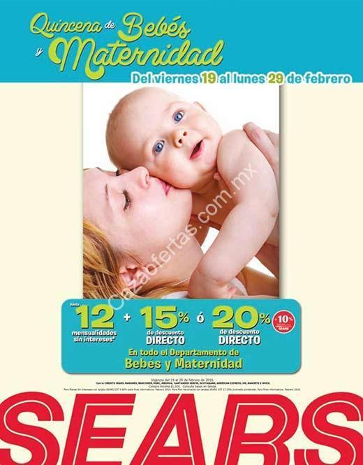 7cdbab21f En Sears Quincena del Bebé y Maternidad  hasta 20% de descuento en todo el  depto. de bebés