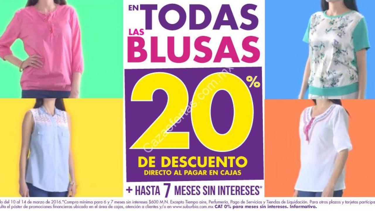 vanguardia de los tiempos mejores ofertas en comprar En Suburbia 20% de descuento en todas las blusas del 10 al ...