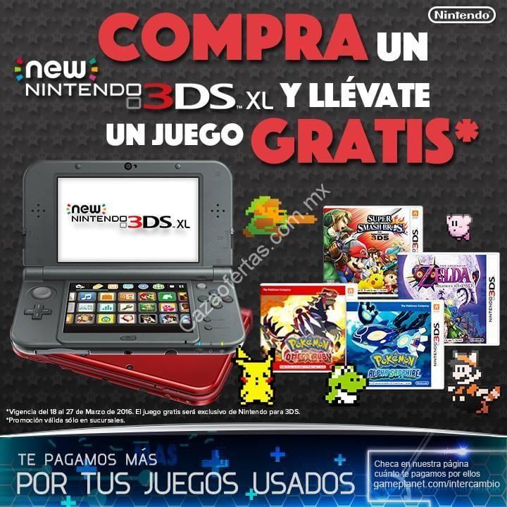 En Gameplanet Compra Un New Nintendo 3ds Xl Y Llevate Un Juego
