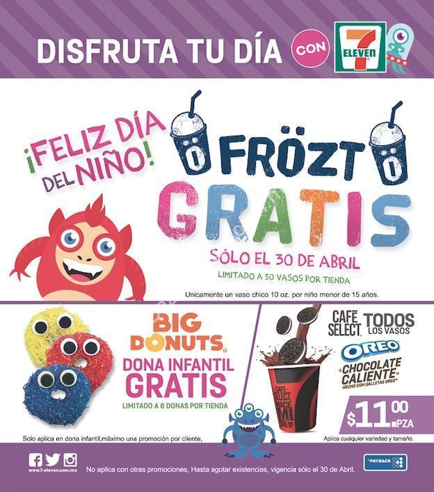 Promociones 7 Eleven día del niño: Frozt y dona GRATIS para todos ...