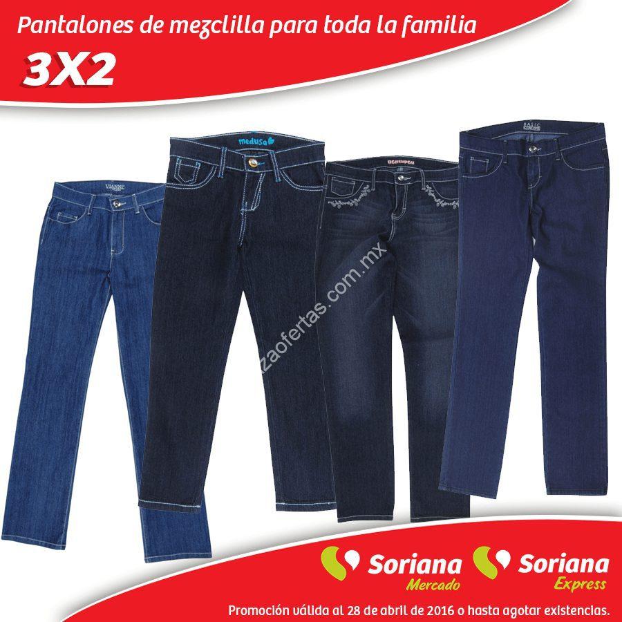 En Soriana Mercado 3 2 En Pantalones De Mezclilla Para Toda La Familia