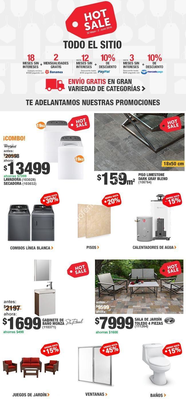 169429a579873 Imagen de la promo  Ofertas Home Depot Hot Sale 2016  hasta 18 meses sin