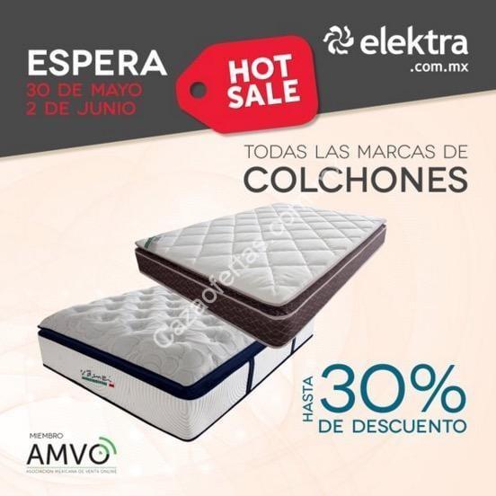 Ofertas Elektra Hot Sale 2016: 30% de descuento en colchones y más