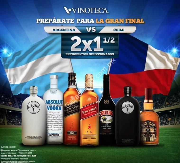 Promoción Vinoteca México: 2×1 1/2 En Botellas