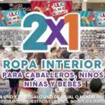 Ofertas Julio Regalado 2016: 2×1 en ropa interior para caballeros, niños, niñas y bebés
