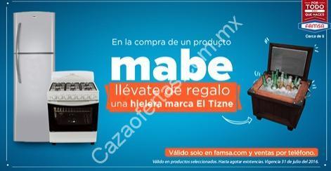 Hielera gratis en la compra de cualquier producto Mabe en Famsa com