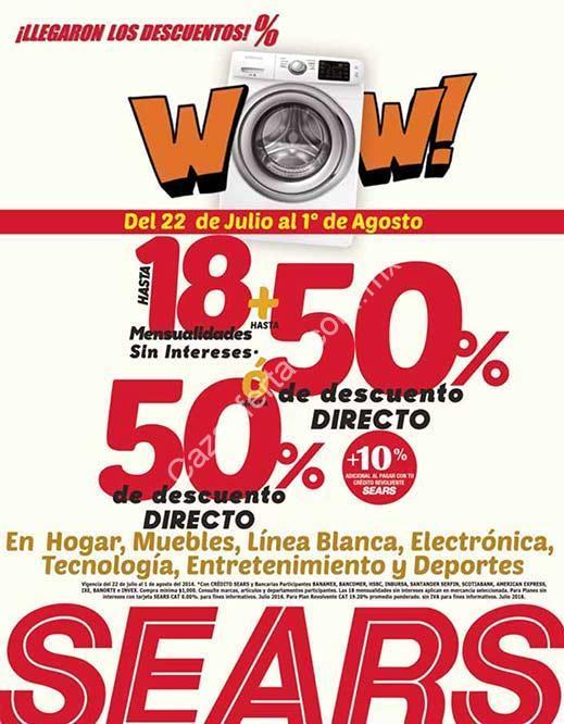 En Sears rebajas de hasta 50% de descuento y 18 meses sin ... - photo#16