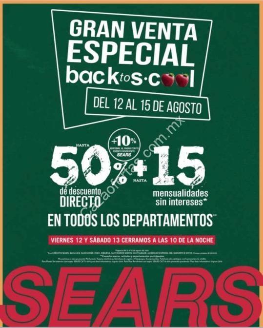 6ae357f37 SEARS tiene el 50% de descuento + 15 mensualidades sin intereses + 10%  adicional al pagar con tarjeta Sears