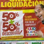 Gran Liquidación Julio Regalado 2016: 50% de descuento + 50% adicional en ropa seleccionada