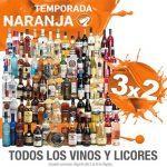 Ofertas Temporada Naranja (antes Julio Regalado 2016): 3×2 en vinos y licores del 5 al 8 de agosto