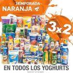 Ofertas Temporada Naranja (antes Julio Regalado 2016): 3×2 en todos los yoghurts del 1 al 4 de agosto