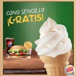 En Burger King cono GRATIS para todos los estudiantes en la compra de cualquier combo