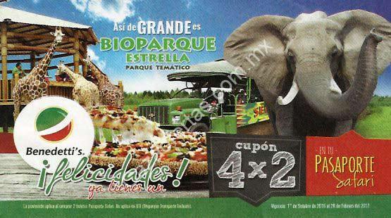 Cupón Benedettis 4×2 Bioparque Estrella Pasaporte Safari